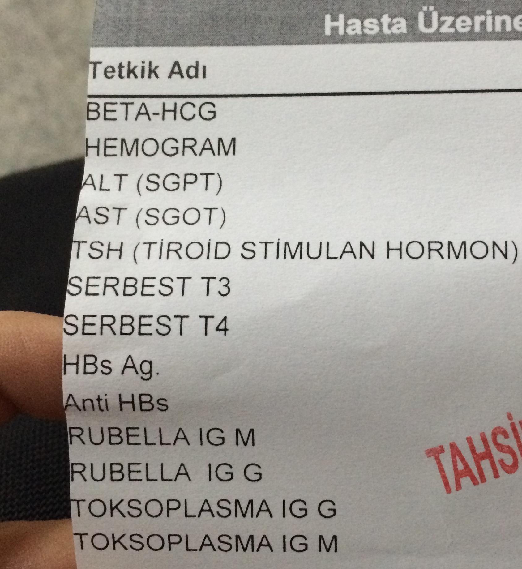 Hcg hormonu ve kanda gebelik (hamilelik) testi